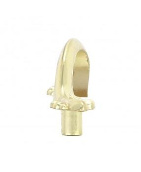 Botón Latón Billante Con Inserto de Madera de Encino