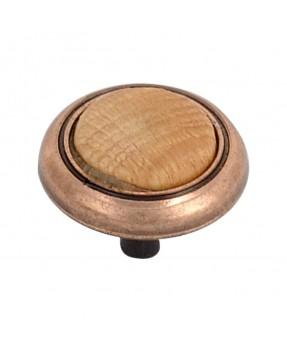 Matte Copper Button with...