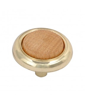 Glossy Brass Button with...